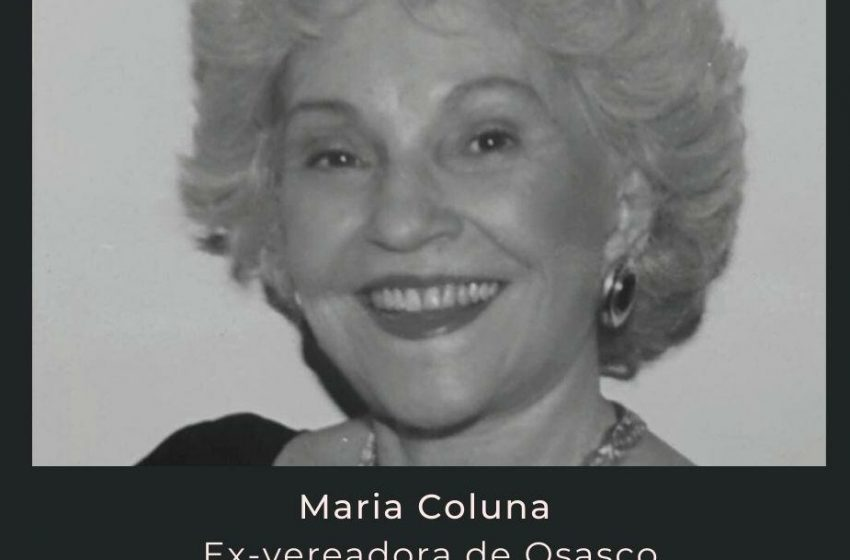 Morre a ex-vereadora Osasquense Maria Coluna