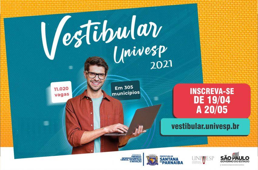 Estão abertas as inscrições para vestibular 2021 Univesp em Santana de Parnaíba