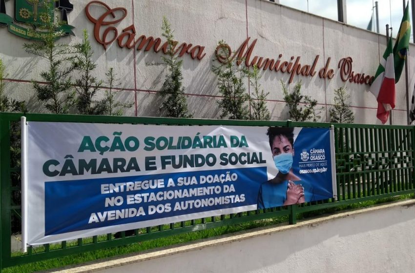 """""""Osasco contra a fome"""" é uma ação solidária da Câmara Municipal"""