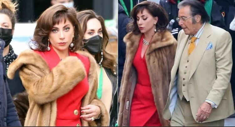 Agenda Cultural: Lady Gaga grava ao lado de Al Pacino , com visual glamoroso.