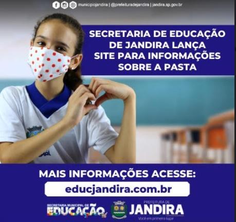 Secretaria de Educação de Jandira lança site para informações sobre a pasta