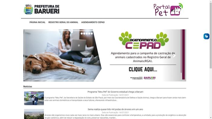 Já está no ar o Portal Pet de Barueri