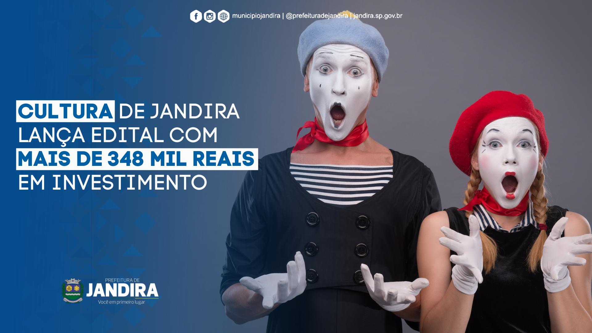 Jandira lança edital com mais 348 mil reais em investimento Cultural