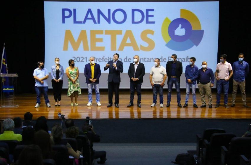 Prefeito Marcos Tonho faz lançamento do Plano de Metas 2021
