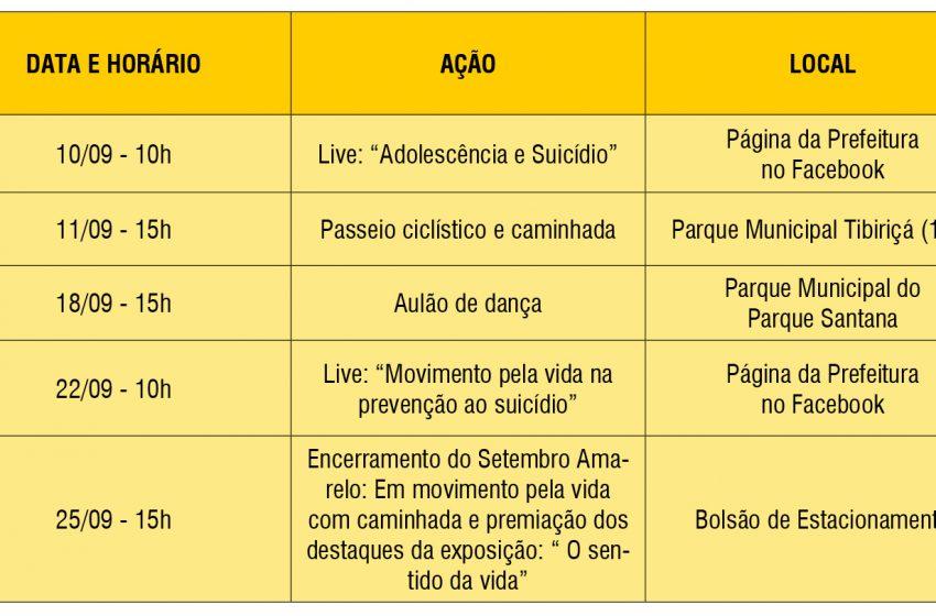 """Santana de Parnaíba promove ações do """"Setembro Amarelo"""""""